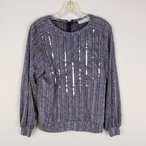 Vintage | Sparkly Silver Sweater